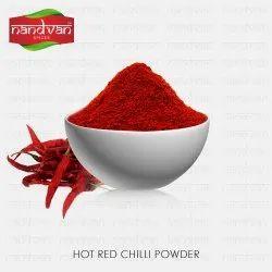 Nandvan Spices HOT RED CHILLI POWDER, Packaging Size: 25kg,50kg