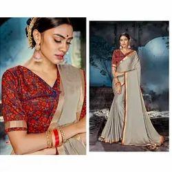 Ladies Designer Border Silk Saree