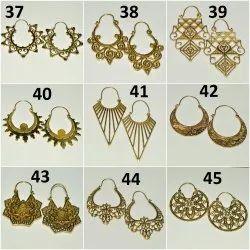 Brass Hand Made Earring