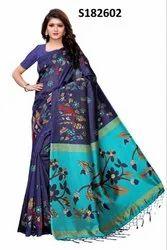 Richa Fashion World Kalamkari Silk Saree
