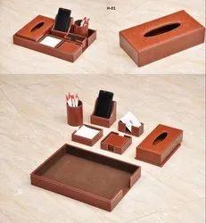 Brown Desk Organizer