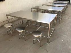 Shreenath Silver Canteen Table, Shape: Rectangular
