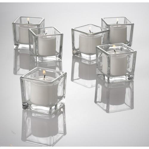 Square Glass Cube Vase Set Of 3 Kaanch Ka Guldaan