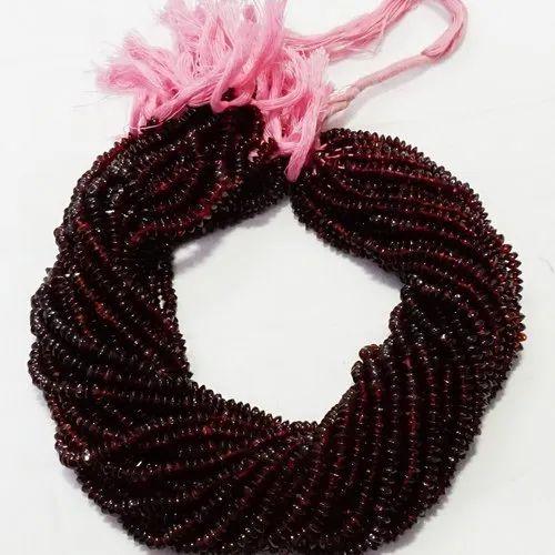 Garnet Button Beads