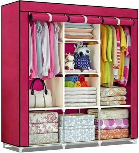 3 Door Foldable Almirah Wardrobe