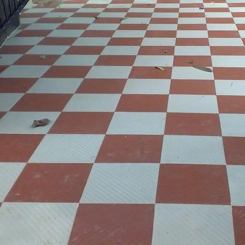 Cement Outdoor Floor Parking Tile, Thickness: 8 - 10 Mm, Rs 22 /square Feet | ID: 21186915097