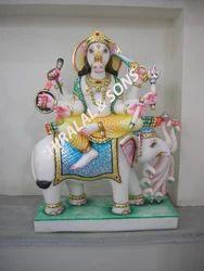 Manibhadra Marble Statue