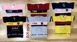 Lycra Cotton Half Sleeves Kids Round Neck Cotton T Shirt