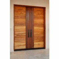 Entrance Wooden Double Door