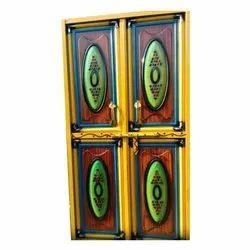 Fancy Hinged Double Iron Door