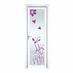 Aluminum Printed Fancy Bathroom Door