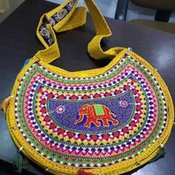 Traditional Embroidery Sling Bag