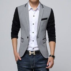 Men Wedding Cotton Blazer