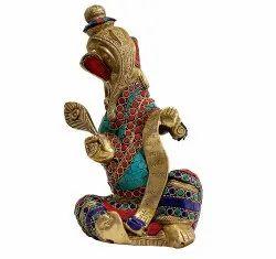 Multicolour Brass Ganesha