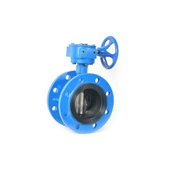 Worm Actuated Flanged Butterfly Valve