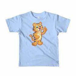 Casual Wear Printed Kids Cotton T Shirt