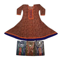 Womens Anarkali Cotton Kurti