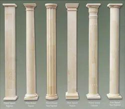 Limestone Round Pillar