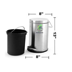 Parasnath Stainless Steel Pedal Dustbin