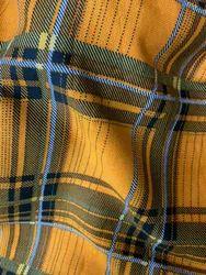 Check Printed Designer Fabric
