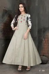 Handloom Designer Gown With South Cotton