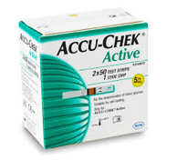 Accu-Check Active- BGM Kit With 10 Strips