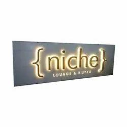 Niche Arylic Glow Sign Board