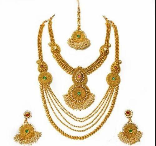f2b0c4937bac5 Bridal Necklace - NK5770 Laxmi Pendant Jewellery Set Wholesale ...