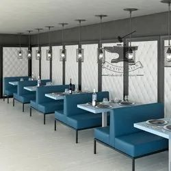 Rustic Green Restaurant Booths, For Restaurant, Hotel, Size: 120X60X72