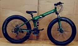 Porsche Green Fat Tyre Foldable Cycle