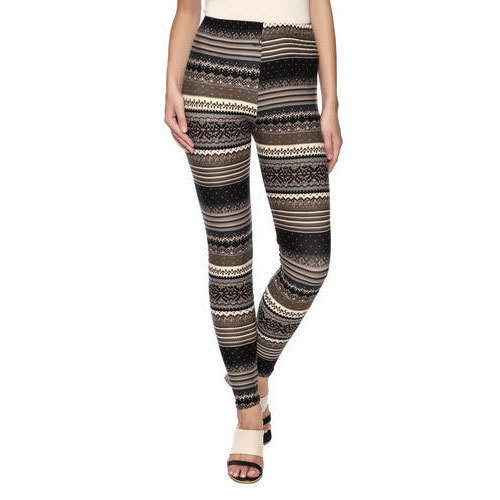 1772838290 Cotton Lycra Casual Wear Ladies Straight Fit Printed Leggings, Rs ...