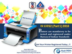 BIS Registration For Printer