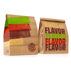 Burger Paper Bags With Multicolor Printing