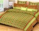 Floral Print Cotton Double Bed Sheet