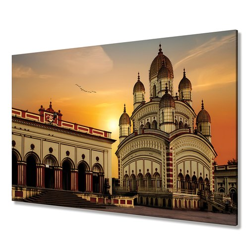 Dakshineswar Kali Temple Cotton Canvas Digital Wall Paintings