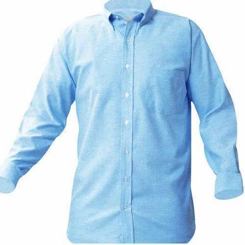 Cotton Plain Mens Full Sleeve Shirt, Handwash