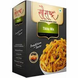 Saurashtra Farsan Spicy Tikha Mixture Namkeen, Packaging Size: 180 Grams