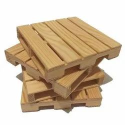 White Pinewood ISPM 15 Wooden Pallet, For Packing