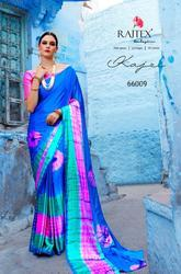 Raj Tex Kajari Series 66001-66009 Stylish Party Wear Nylon Satin Saree