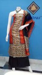 Mitras' Pure Silk Unstitched Salwar Suit