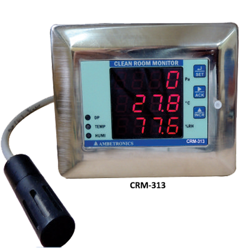 Clean Room Temperature- RH- Differential Pressure, Model No.: CRM-313