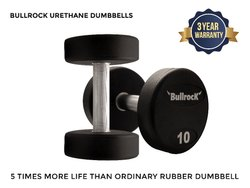 BullrocK Fixed Weight Urethane Gym Dumbbell, Weight: 2.5kg To 70kg