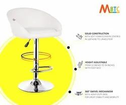 MBTC Judith Office Bar Stool Chair In White