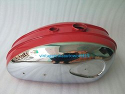 New Bsa C15 Chromed And Red Painted Petrol Tank (Reproduction)