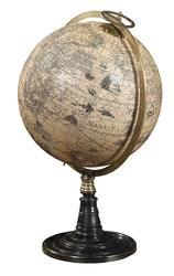 Bronze Rosewood Wooden Stand Old Vintage World Globe