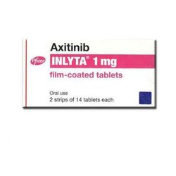 Axitinib 1mg Inlyta Tablet, Pfizer, 2 Strip Of 14 Tabs