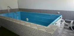 Blue Fiberglass Readymade Swimming Pool For Hotels/Resorts