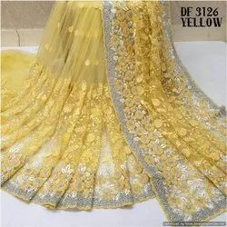 Net Embroidered Stylish Saree