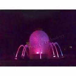 Angular Form Dandelion Fountain