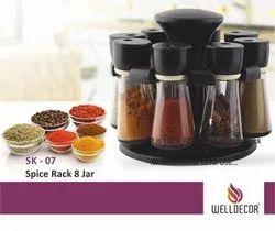 8 Jaar Brown Spice Rack